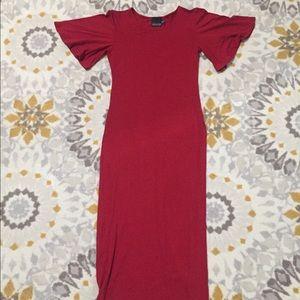 ASOS Tall cap sleeve midi dress